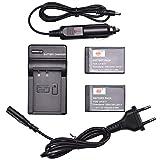 DSTE 2-Pack Ersatz Batterie und DC163E Reise Ladegerät Compatible für Canon LP-E17 EOS M6MarkII M3 M5 77D 200D 750D 760D 8000D...