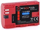 Baxxtar Pro LP-E6N Qualitätsakku Ersatz für Canon (echte 2040mAh) mit Infochip - Intelligentes Akkusystem Für Canon XC10 XC15 EOS R...