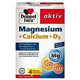 Doppelherz Magnesium + Calcium + D3 – Mit Calcium als Beitrag zum Erhalt normaler Knochen und einer normale Muskelfunktion – 120...