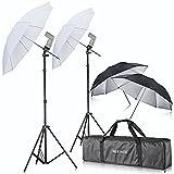 Neewer Fotoschirm Set inkl. Stativkopf mit Blitzschuh und Drehgelenk für Blitzgerät Canon