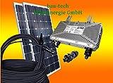 bau-tech Solarenergie 260Watt Photovoltaikanlage/Solaranlage für Eigenverbrauch Plug & Play Komplettset mit Montagematerial für EIN...