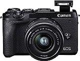 Canon EOS M6 Mark II Systemkamera Gehäuse - mit Objektiv EF-M 15-45mm F3.5-6.3 IS STM Kit (32,5 Megapixel, 7,5 cm (3,0 Zoll),...