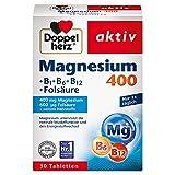 Doppelherz Magnesium 400 + B1 + B6 + B12 + Folsäure – Magnesium für die Muskeln, das Nervensystem und den Energiestoffwechsel – 1...