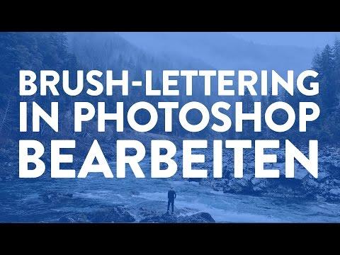Eingescanntes Brush-Lettering in Photoshop bearbeiten