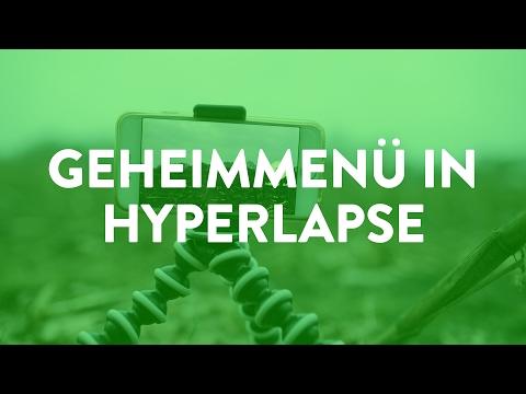 Geheimes Menü in der Hyperlapse-App