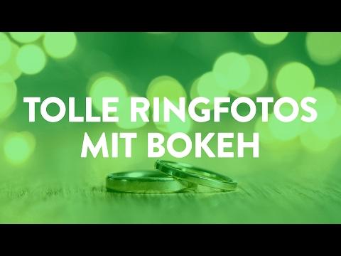 Kreative Ringfotos mit Bokeh