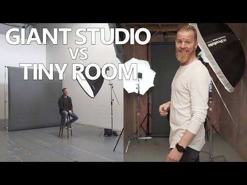 Giant Studio vs Tiny Room - Studio Lighting Tutorial
