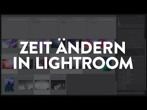 In Lightroom Aufnahmezeit von Fotos anpassen