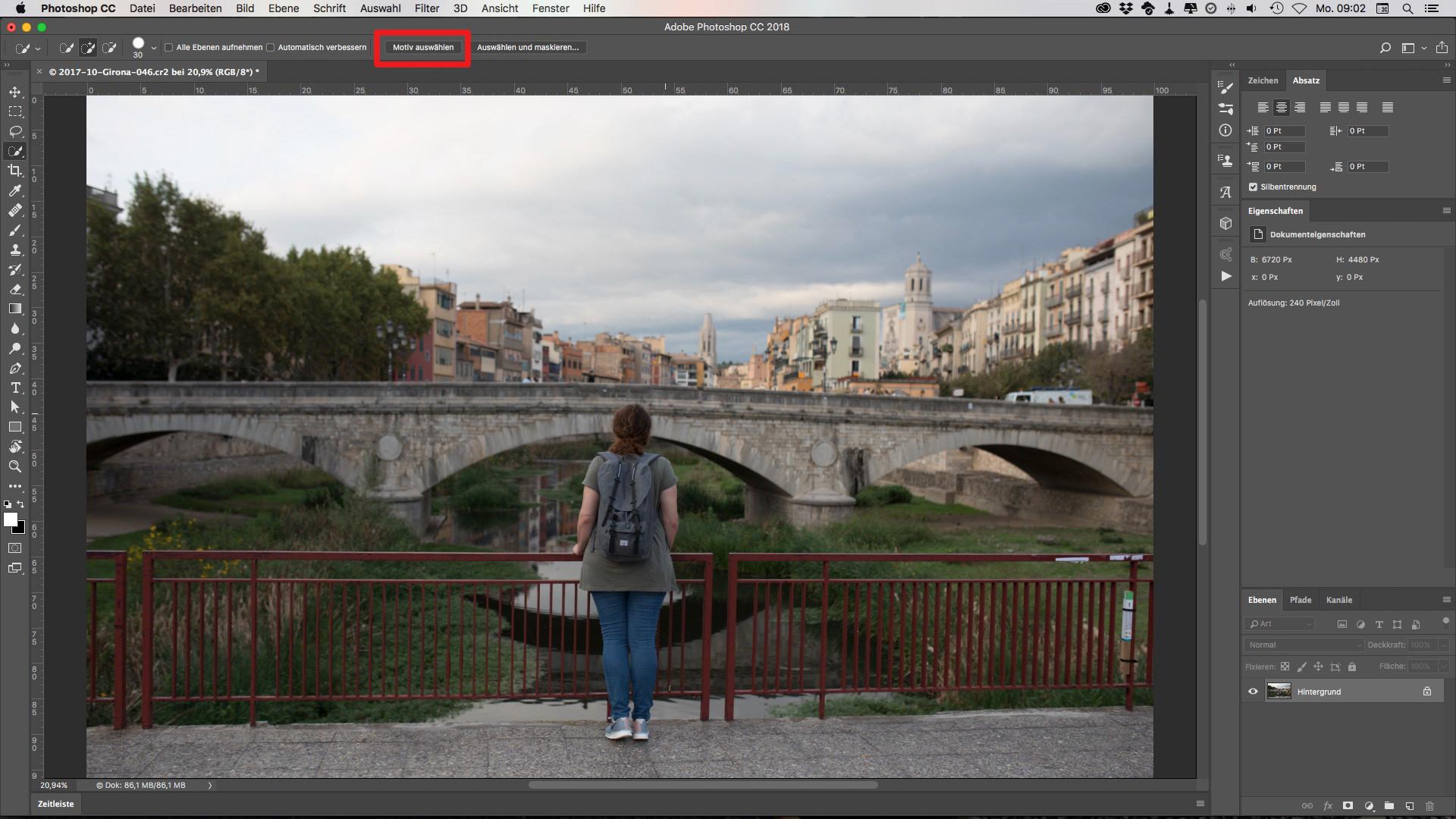 Motive mit einem Klick auswählen in Photoshop CC 2018