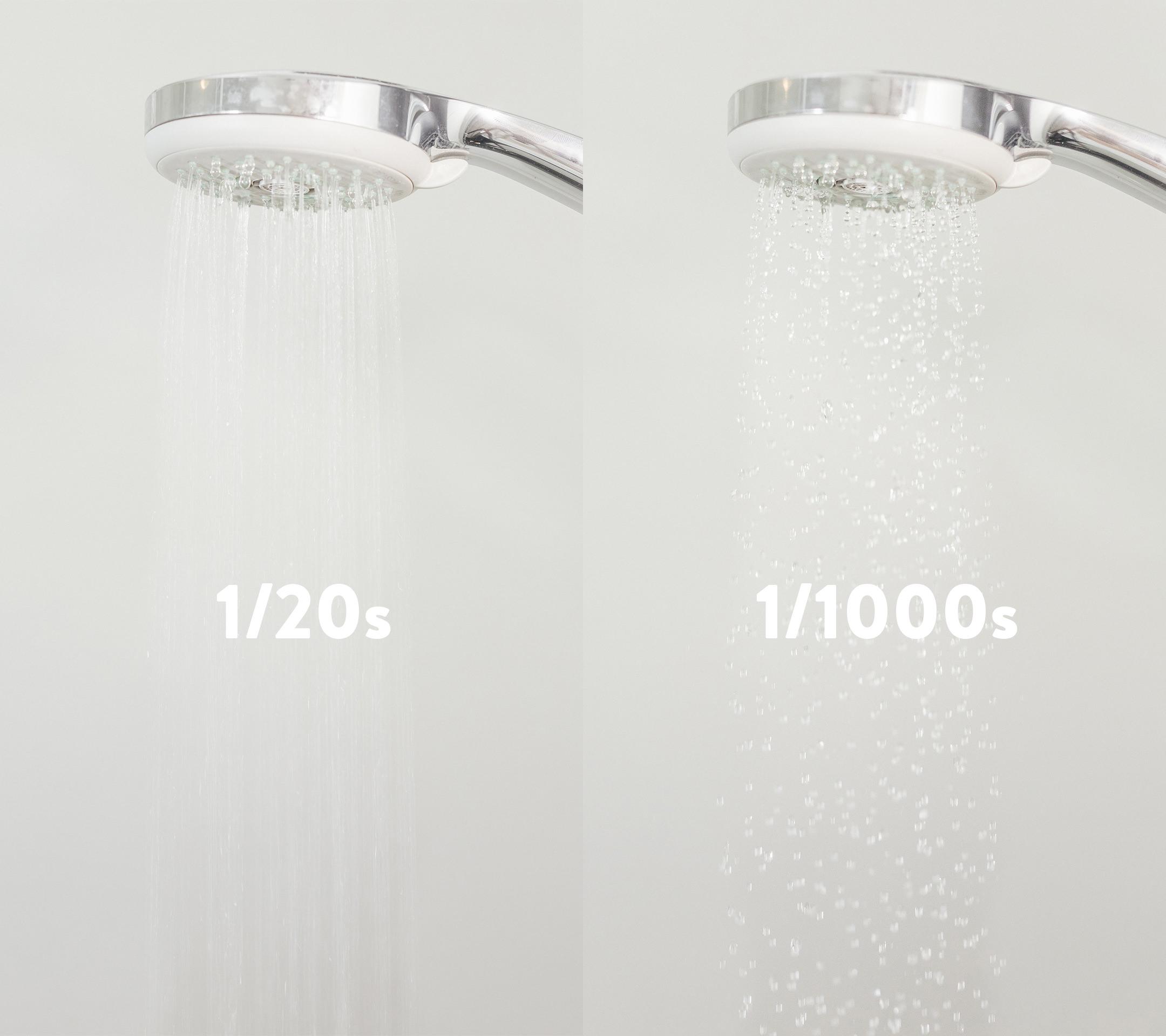 Zwei Belichtungszeiten im Vergleich