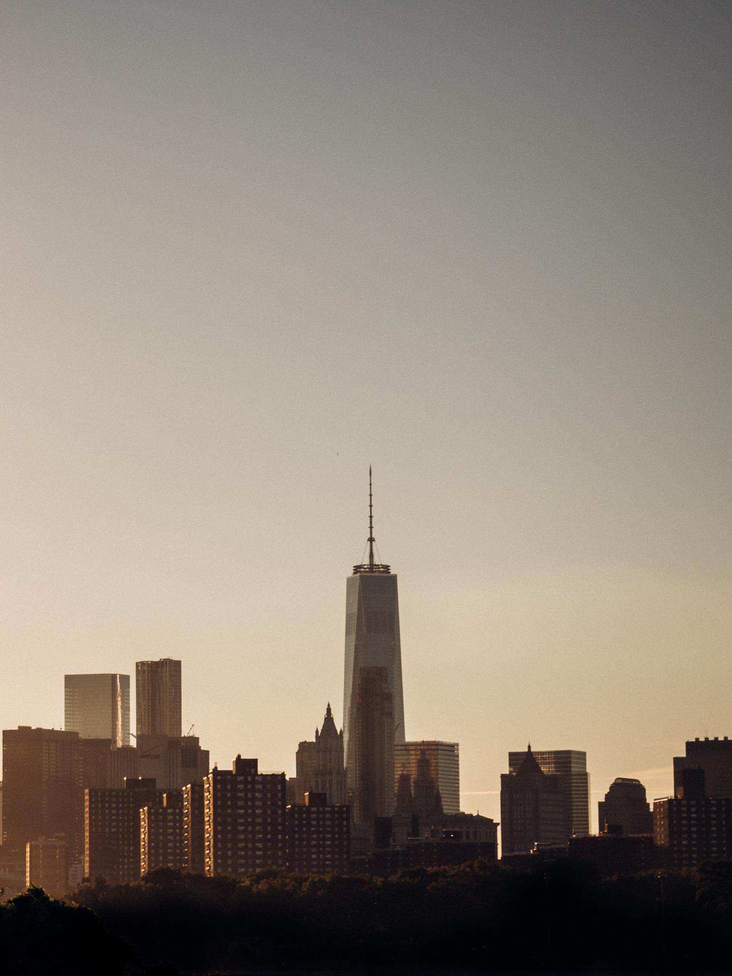World Trade Center One im Sonnenuntergang