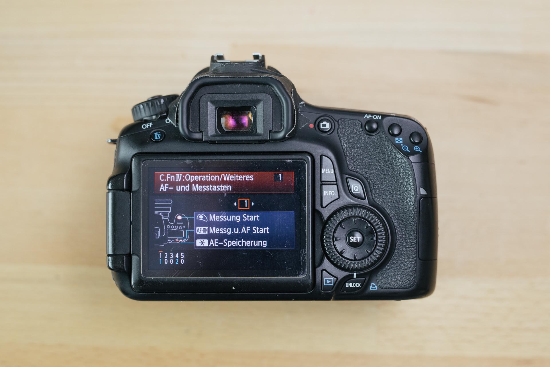 Back button Fokus bei Canon Kameras aktivieren