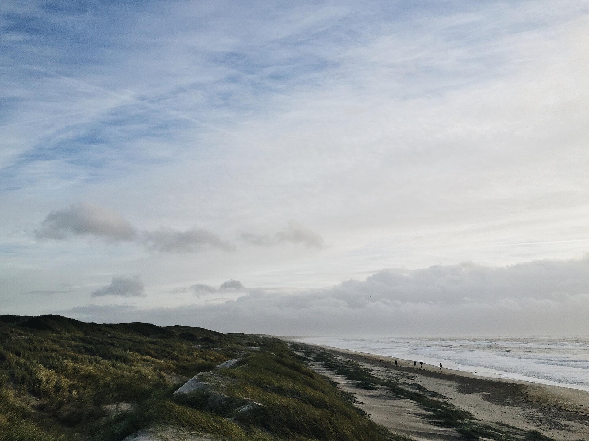 Herrliche Dünenlandschaften in Dänemark, fotografiert mit dem iPhone 6
