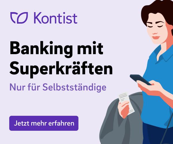 Anzeige von Kontist: Banking mit Superkräften - Nur für Selbstständige