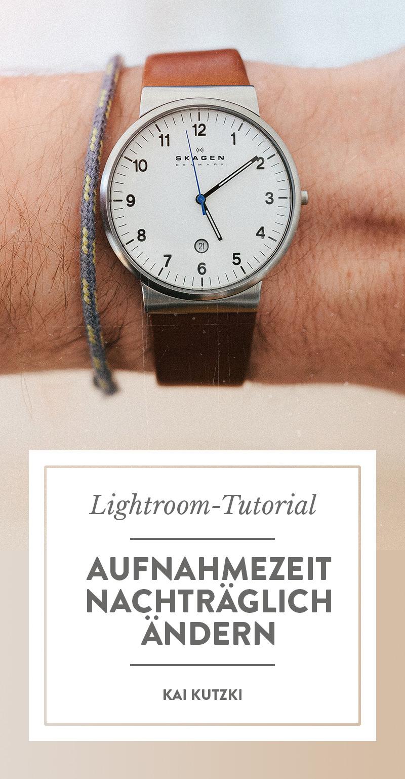 Aufnahmezeit von Fotos in Lightroom nachträglich ändern
