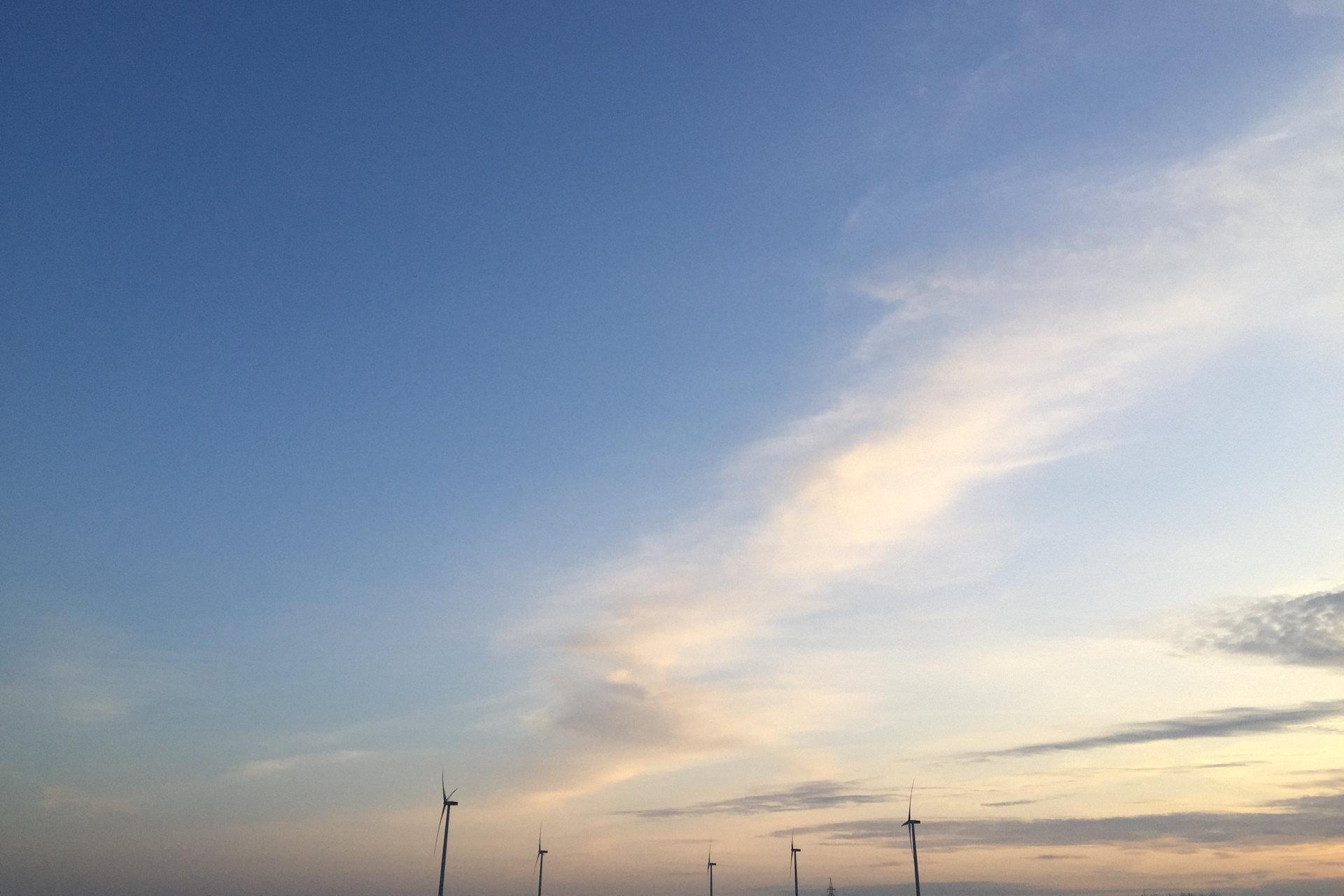 Windkraftwerke in Norddeutschland