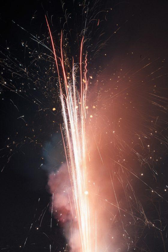 Feuerwerksbatterie fotografieren an Silvester