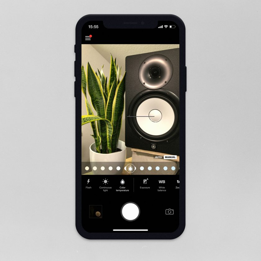 Screenshot der Profoto Camera App