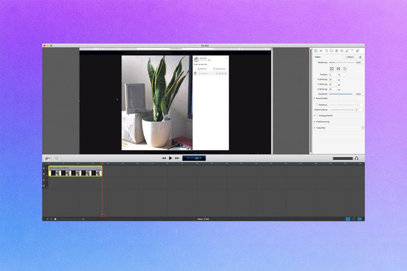 Screenshot von Screenflow