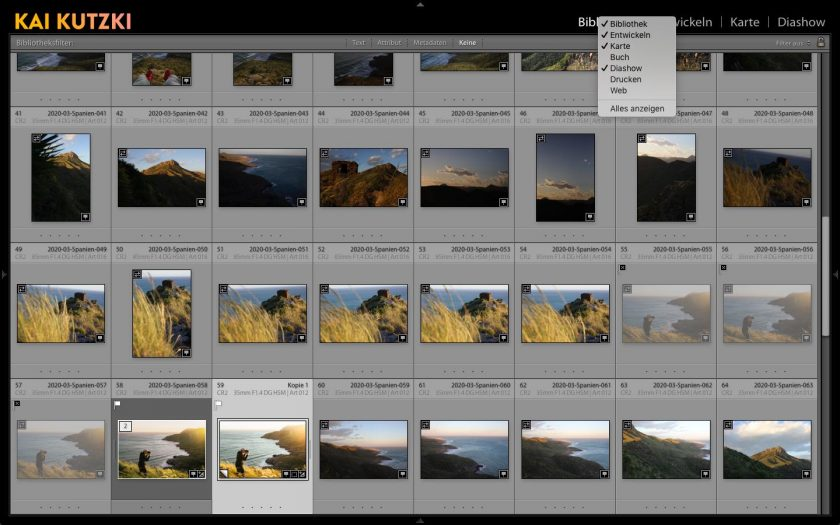 Screenshot von Adobe Lightroom Classic