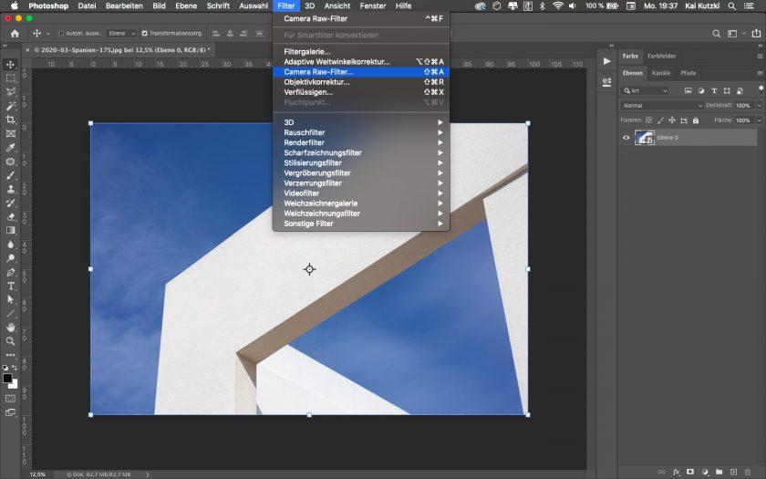 Screenshot von Photoshop CC
