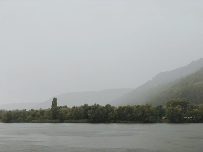 Starkregenschauer am Weserradweg